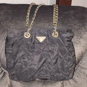 1182c6774a58 ... usa prada milano dal 1913 black bag gold chain straps b3b18 2e402